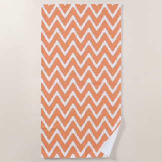 Peach Southern Cottage Chevrons Beach Towel