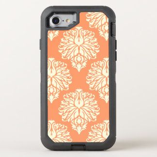 Peach Southern Cottage Damask OtterBox Defender iPhone 8/7 Case