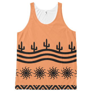 Peach Southwest Design Pattern Tank Top