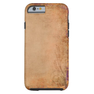 Peach Southwestern Country Purple Wildflowers Tough iPhone 6 Case