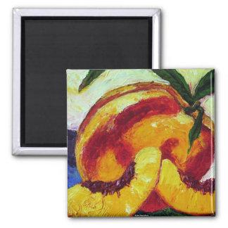 Peach Square Magnet