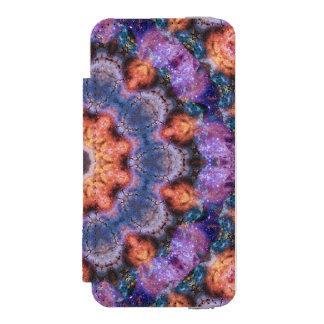 Peach Star Mandala Incipio Watson™ iPhone 5 Wallet Case