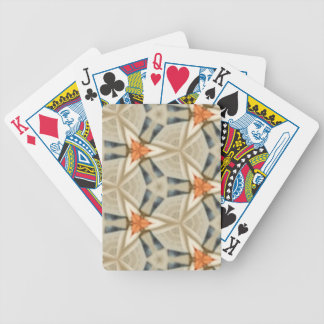 Peach Star Pattern Bicycle Playing Cards