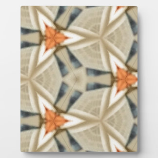 Peach Star Pattern Plaque