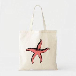 Peach Starfish Canvas Bag