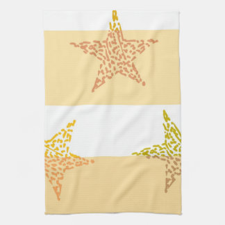 Peach Stars and Stripes Kitchen Towel