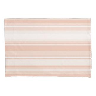 Peach stripes pillowcase
