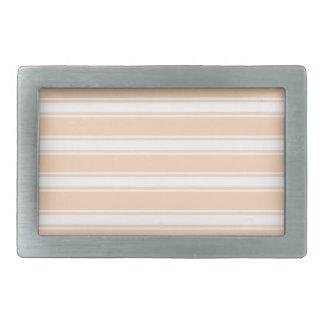 Peach Stripes Rectangular Belt Buckles