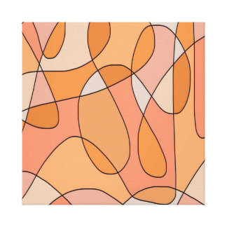Peach Swirl Abstract Design Artwork Pattern Canvas Print
