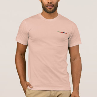 Peach t-shirt with abstract design