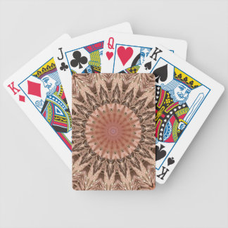 Peach Tan Mandala Bicycle Playing Cards