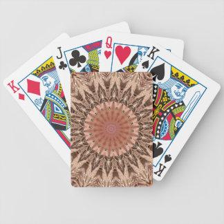 Peach Tan Mandala Poker Deck