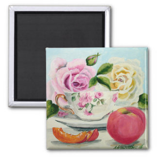 Peach & Tea Magnet