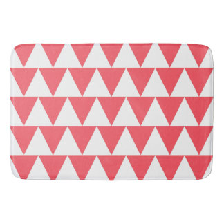 Peach Triangles Bath Mat