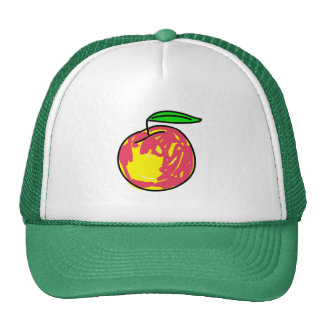 peach trucker hat