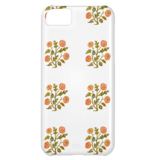 Peach Vintage Embroidery Style Flowers iPhone 5C Covers