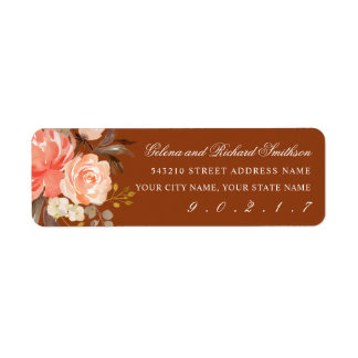 Peach Watercolor Florals  Brown Fall Address