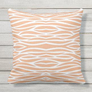 Peach WavesThrow Pillow