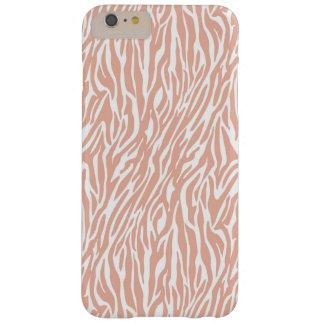 Peach Zebra Print Barely There iPhone 6 Plus Case