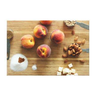 Peaches and Almonds Wrapped Canvas