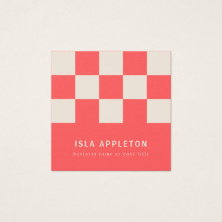 Peaches and Cream Chequered | Business Card