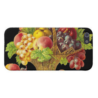 Peaches and Fruits Basket - Vintage Art iPhone 5 Case