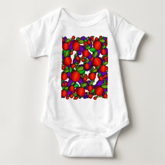 Peaches and plums baby bodysuit