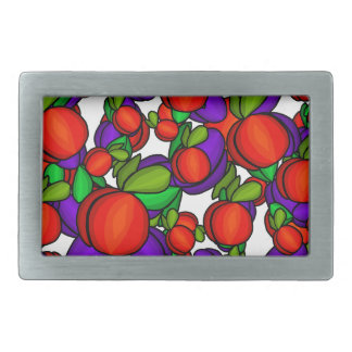 Peaches and plums belt buckles