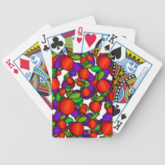 Peaches and plums poker deck