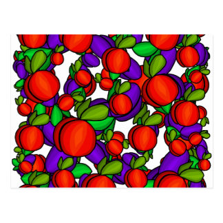 Peaches and plums postcard