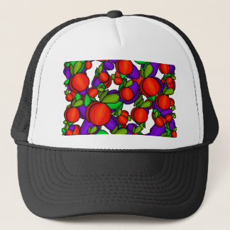 Peaches and plums trucker hat