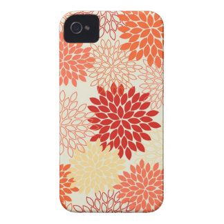Peaches and Tangerine Mums iPhone 4 Case-Mate Cases