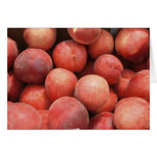 Peaches at  the Green Market Note Card