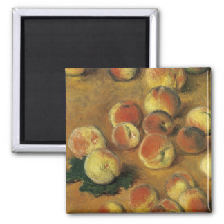 Peaches by Claude Monet Square Magnet