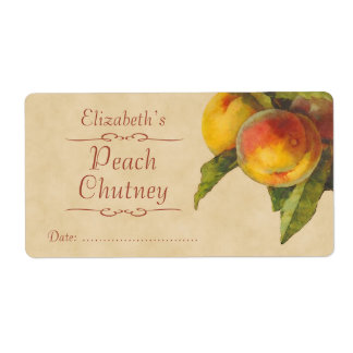 Peaches Canning label Shipping Label