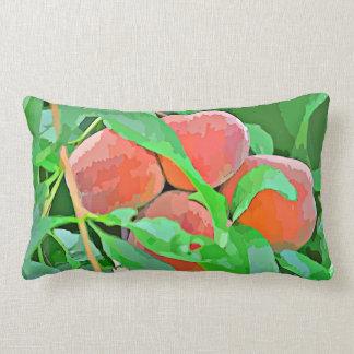 Peaches In Cartoon Accent Lumbar Pillow