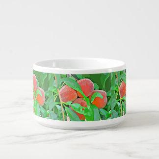 Peaches in Cartoon Chili Bowl