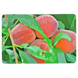 """""""Peaches in Cartoon"""" Floor Mat"""