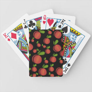 Peaches pattern bicycle playing cards
