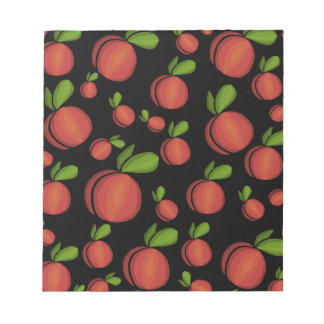 Peaches pattern notepads