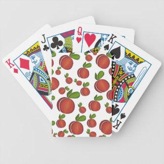 Peaches pattern poker deck