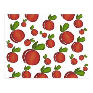 Peaches pattern postcard