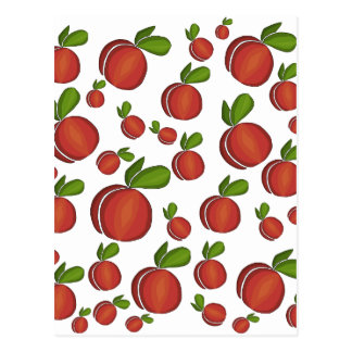 Peaches pattern postcard