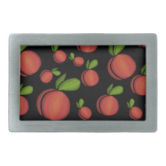 Peaches pattern rectangular belt buckle
