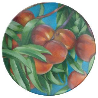 Peaches Porcelain Plate