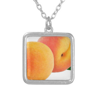 peaches silver plated necklace