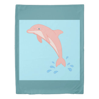 Peaches the Pink Dolphin Duvet Cover