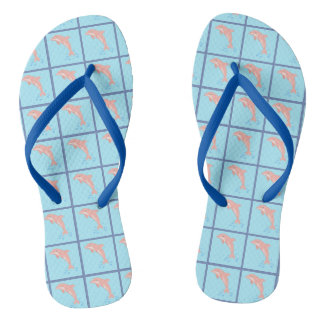 Peaches the Pink Dolphin Flip Flops