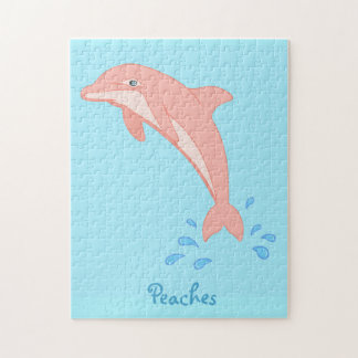 Peaches the Pink Dolphin Jigsaw Puzzle