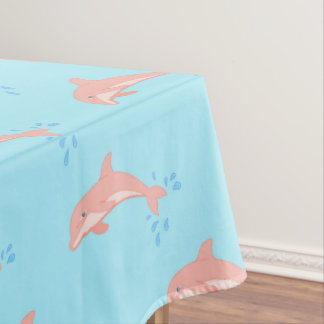 Peaches the Pink Dolphin Tablecloth
